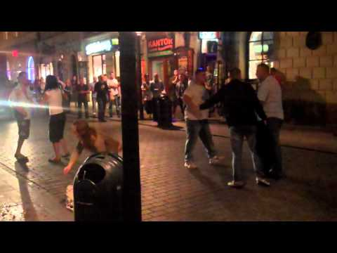 fight - It kicked off between a group of Polish guys (and girls) and luckily my FlipHD was already rolling. The only fight we seen in Krakow over the stag weekend.