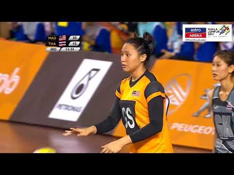 MAS 73-30 THA| Sorotan Penuh | Bola Jaring | Pusingan Awal | Sukan SEA KL 2017 | Astro Arena
