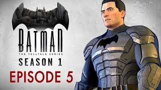 """Batman: The Telltale Series Final Episode (Season Finale) - Full walkthrough with all important choices and consequencesEPISODE 5: CITY OF LIGHT0:00 - Previously on Batman: The Telltale Series1:34 - Chapter 1 - Loose Ends [""""Batman vs Penguin"""" and """"Batman vs Two-Face"""" Scenes]23:32 - Chapter 2 - Revelations41:03 - Chapter 3 - On the Trail52:47 - Chapter 4 - The Legacy1:08:46 - Chapter 5 - Executive Decision [""""Batsuit"""" and """"Batsuit (Mark 2)"""" Scenes]1:21:21 - Chapter 6 - A New Day in Gotham [""""Attack Vicki"""" and """"Remove Cowl"""" Choices]Full Episodes of Batman The Telltale Series:https://www.youtube.com/playlist?list=PLJms5sWamFOWc1zy_6KBrw-xtYo8FpICCEnter the fractured psyche of Bruce Wayne and discover the powerful and far-reaching consequences of your choices as the Dark Knight. In this gritty and violent new story from the award-winning creators of The Walking Dead – A Telltale Games Series, you'll make discoveries that will shatter Bruce Wayne's world, and the already fragile stability of a corrupt Gotham City.===================================Game played on PC at 1080p and 60fps===================================Follow BatmanArkhamVideos on:● YouTube - http://www.youtube.com/BatmanArkhamVideos● Twitter - http://www.twitter.com/ArkhamVideos● Facebook - http://www.facebook.com/BatmanArkhamNewsFor more info and videos, visit http://www.Batman-Arkham.com and http://www.Games-Series.com"""