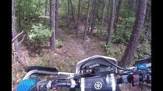 9. Tight Single Track on a WR450F