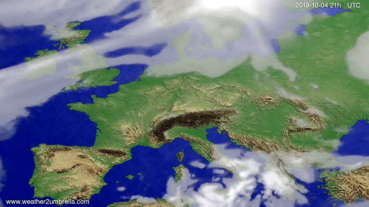Cloud forecast Europe 2018-10-01