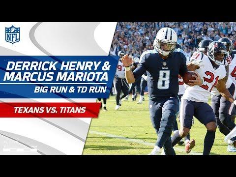 Video: Derrick Henry's Huge Run Sets Up Marcus Mariota's TD Run! | Texans vs. Titans | NFL Wk 13 Highlights