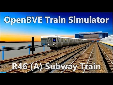 OpenBVE BVE Trainsim - NYCT R46 (A) Subway Train - subway Simulator mta