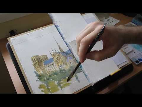 Notre Dame - October Daily Watercolor Sketch Challenge #18