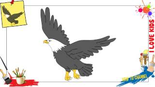 How to draw an Eagle EASY & SLOWLY step by step for kids