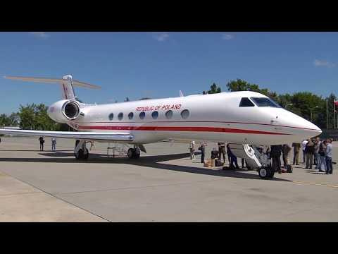 Uroczyste przyjęcie do służby Gulfstreama G550
