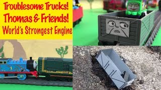Video TROUBLE with TROUBLESOME TRUCKS! THOMAS & FRIENDS minis + a Fun World's Strongest Engine MP3, 3GP, MP4, WEBM, AVI, FLV Agustus 2018