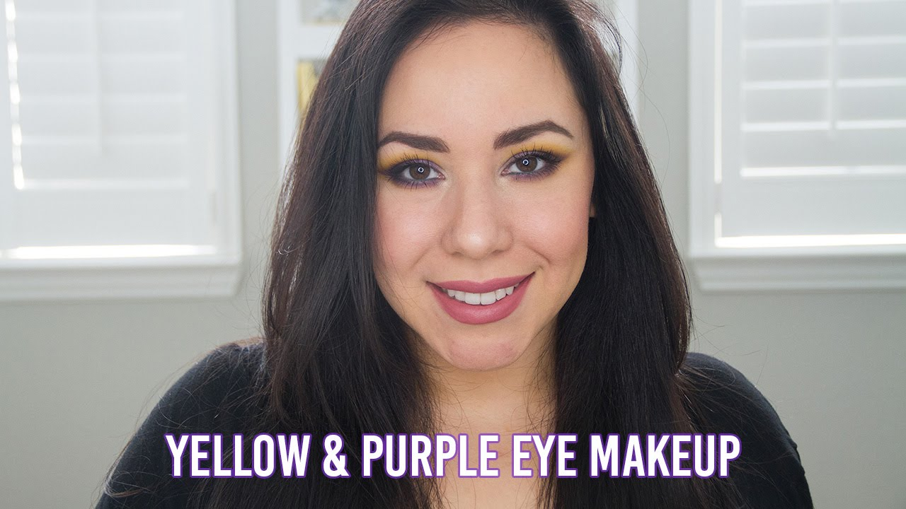 Purple and Yellow Eye Makeup || Mardi Gras Inspired