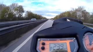 10. KTM 990 Superduke at Topspeed 246 kph