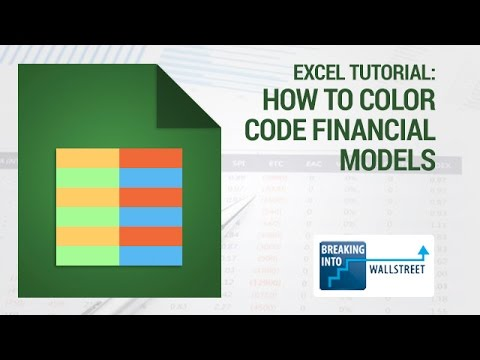 Excel Tutorial - How to Color Code Financial Models