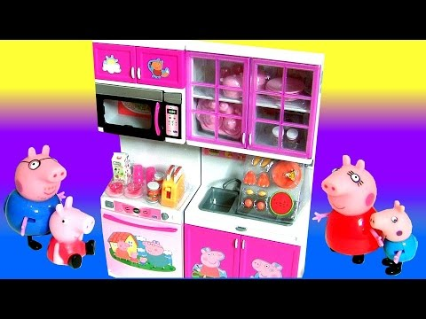 Peppa Pig Deluxe Kitchen Toy Baking with Mommy + Disney Frozen Deluxe Kitchen Toy Surprise Play Doh