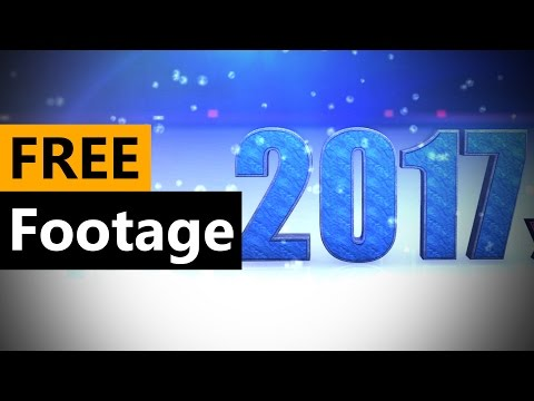 Happy New Year 2017 Animation FREE Stock Video Footage Download Full HD