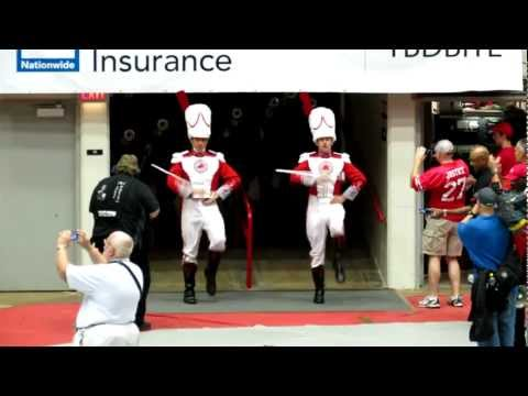 Ramp Entry at Skull Session 9 8 2012 OSU vs UCF Ohio State University Marching Band
