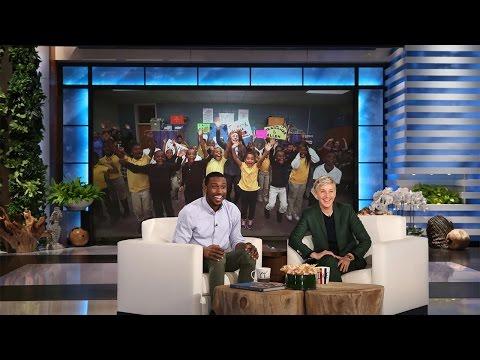 Ellen Surprises Incredible Teacher Mr. Bonner (видео)
