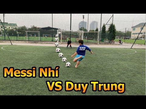 Thử Thách Bóng Đá Duy trung trổ tài thủ môn so tài Messi nhí tuyển Futsal Việt Nam - Thời lượng: 10:25.