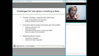 Green Finance, Opportunities and Challenges - Perspective from the Asia Pacific