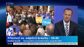 Příznivci vs. odpůrci brexitu – 55:45