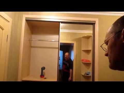 Сборка простого шкафа купе,часть3 (видео)