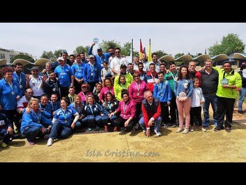 Entrega de Premios Campeonato de Andalucía de Petanca celebrado en Isla Cristina