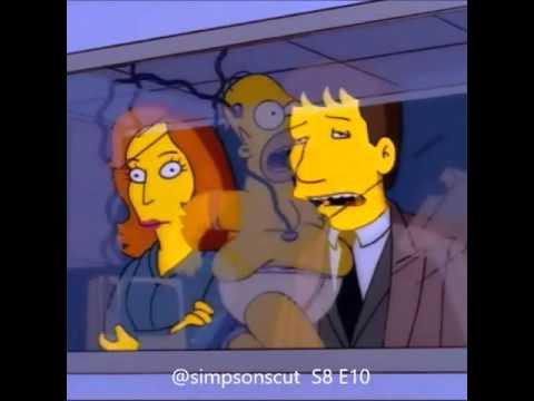Simpsons, season 8 episode 10; the x files