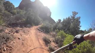 Llama Trail - A few quick rocky climbs and easy rolling slick rock with no great hazards.
