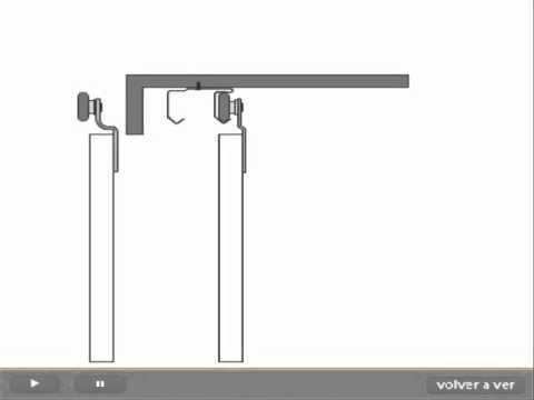 Carros colgantes para puertas corredizas videos videos for Sistema para puertas corredizas