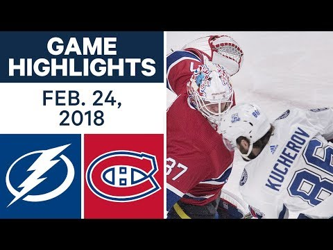 Video: NHL Game Highlights | Lightning vs. Canadiens - Feb. 24, 2018