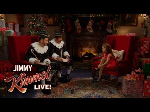 Jimmy Kimmel Interrogates Little Girl to Find Out if She Belongs on Santa s Naughty or Nice