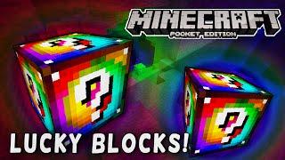 MCPE MODS - Rainbow Lucky Block Mod!