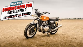 ROYAL ENFIELD INTERCEPTOR 650 & CONTINENTAL GT 650 | BOOKING STARTS | India's Cheapest Twin Cylinder