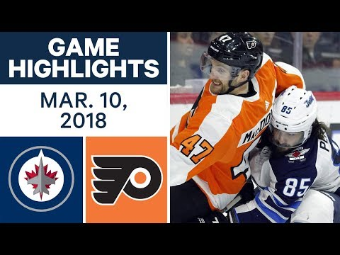 Video: NHL Game Highlights | Jets vs. Flyers - Mar. 10, 2018