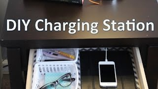 Nightstand Organization | EASY DIY Charging Station! - YouTube