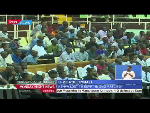 24/10/2016 : Kenya U-23 volley ball team loses to Egypt in Kasarani, 24/10/2016