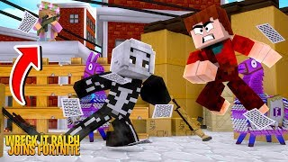 LITTLE KELLY AND WRECK IT RALPH JOIN FORTNITE !! | Minecraft w/ Little Kelly