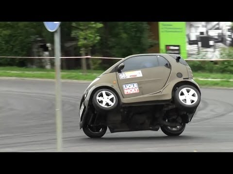 Smart Fortwo with Kawasaki Ninja engine – K. Kogut  – 3 SuperOES Tarnowski 26-06-2010 Tarnów HD