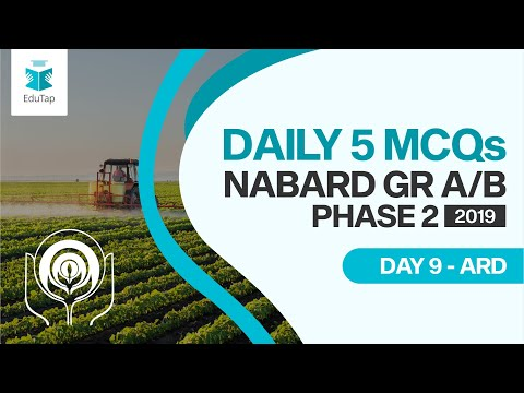 Lecture 9|target Nabard Gr A And B 2019|5 Mcqs A Day Series