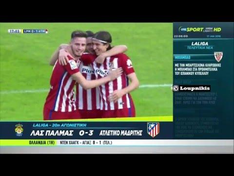 UD Las Palmas vs Atlético Madrid 0-3 All Goals and Highlights {17/1/2016}