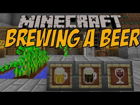 BIER BRAUEN | Brewing a beer Mod | Minecraft Mod Review [DEUTSCH]