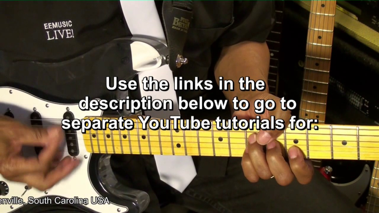 Electric FUNK Guitar Tutorial YouTube Lesson Links From EricBlackmonGuitar HD
