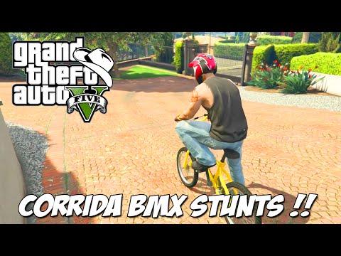 GTA 5 Online (PS4) – Corrida BMX Stunts: Roubo em plena corrida xD