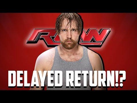 Dean Ambrose Not Returning After Wrestlemania 34!?