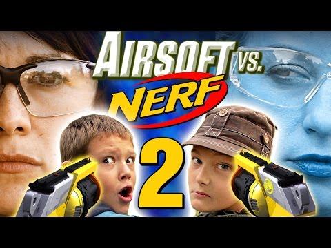Airsoft vs Nerf 2 (видео)