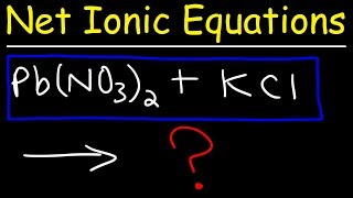 This chemistry video tutorial explains how to write net ionic equations.  It explains how to predict the products of double replacement reactions and acid base reactions and how to write the total ionic equation as well as the net ionic equations by identifying and eliminating the spectator ions.New Chemistry Video Playlist:https://www.youtube.com/watch?v=bka20Q9TN6M&t=25s&list=PL0o_zxa4K1BWziAvOKdqsMFSB_MyyLAqS&index=1Access to Premium Videos:https://www.patreon.com/MathScienceTutorFacebook:  https://www.facebook.com/MathScienceTutoring/