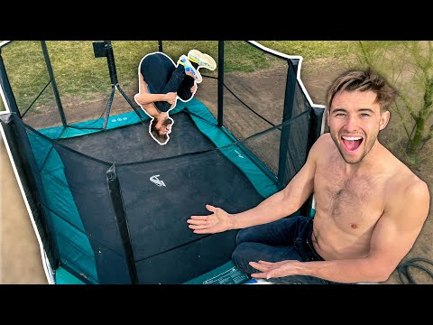 Built A Trampoline Park In Our Backyard!