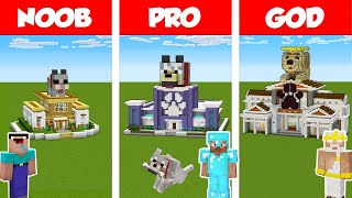 Minecraft NOOB vs PRO vs GOD: PET SHOP BUILD CHALLENGE in Minecraft / Animation