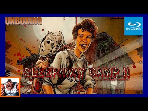 Sleepaway Camp II Unhappy Campers Collector's Edition Scream Factory Blu Ray Unboxing