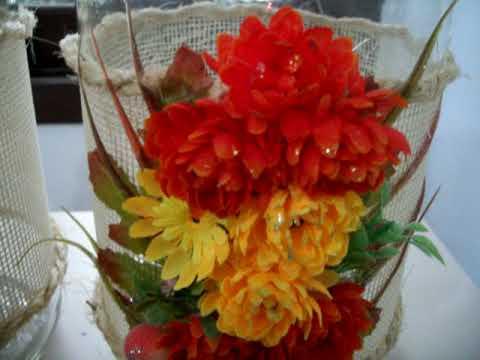 Flores com textura criativa em vidro 1/2