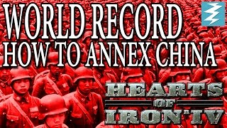 How To Conquer China Fast! WORLD RECORD Tutorial - Hearts of Iron IV HOI4 Paradox Interactive