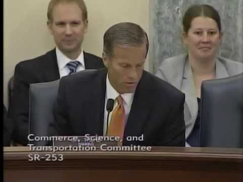 Sen. John Thune addresses the Senate Agriculture Committee. Vider courtesy thune.senate.gov