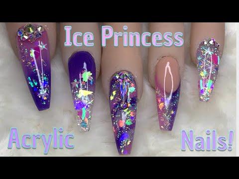 Ice Princess Nails  Acrylic Nails  Nail Sugar